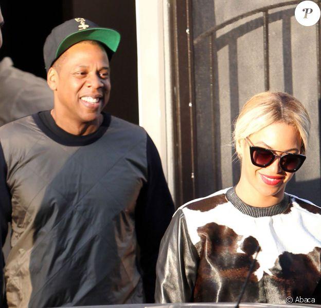 Jay Z et Beyoncé quittent un restaurant à West Hollywood, le 6 décembre 2013.