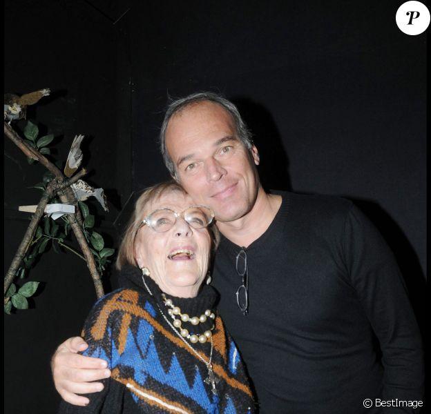 Mado Maurin et Laurent Baffie lors de la générale de la pièce Clerambard à Paris le 20 octobre 2008