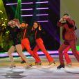 Merwan Rim durant le troisième prime d'Ice Show sur M6 à Paris, le 11 décembre 2013.
