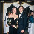 Christophe Malavoy et sa femme Isabelle lors de la soirée des 40 ans de la maison Dior en 1987
