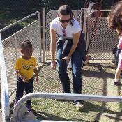 Kristin Davis : Complice et naturelle avec sa fille, amusée par les animaux