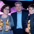 """Anne-Marie Lagrange, Gilles Portelle et Annie Famose lors de la cérémonie des """"Femmes en Or 2013"""" à Avoriaz, le 14 décembre 2013."""