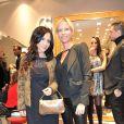 Exclusif : Fabienne Carat et Rebecca Hampton a l'inauguration de la nouvelle boutique Carmen Steffens a Cannes. Le 13 decembre 2013