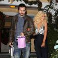 Christina Aguilera et son boyfriend Matthew Rutler à Los Angeles, le 17 décembre 2013.