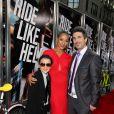 Dania Ramirez et son compagnon Bev Land et Kai Land (le fils de ce dernier) à New York, le 22 aoû 2012.