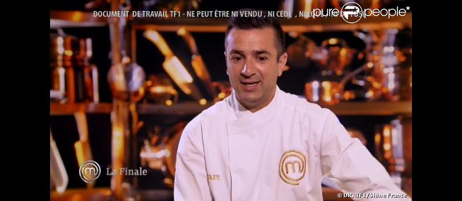 Marc lors de la finale de la 4e saison de MasterChef, sur TF1, le 20 décembre 2013.