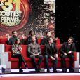 Jean-Marc Généreux, Claudia Tagbo, Chris Marques, Tal, M. Pojora, Gad Elmaleh et Cyril Hanouna dans Le 31 tout est permis, émission spéciale diffusée sur TF1 le 31 décembre 2013 à 20h50 et présentée par Arthur