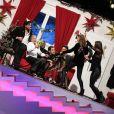 Arthur, Rachid Badouri, Laury Thilleman, Florent Peyre, Anthony Kavanagh, Franck Dubosc, Sandrine Quétier et Titoff dans Le 31 tout est permis, émission spéciale diffusée sur TF1 le 31 décembre 2013 à 20h50 et présentée par Arthur