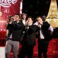 Arnaud Ducret, Michaël Youn, Arthur et Pascal Obispo dans Le 31 tout est permis, émission spéciale diffusée sur TF1 le 31 décembre 2013 à 20h50 et présentée par Arthur