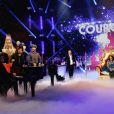 Gad Elmaleh, Cyril Hanouna, Chris Marques, Jean-Marc Généreux, M. Pokora et Claudia Tagbo dans Le 31 tout est permis, émission spéciale diffusée sur TF1 le 31 décembre 2013 à 20h50 et présentée par Arthur