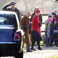 Le duc d'Edimbourg et la princesse Anne arrivent à l'église de Sandringham pour la messe du 29 décembre 2013