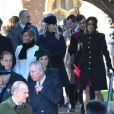 La famille royale lors de la messe de Noël 2013 à Sandringham