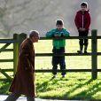 Le duc d'Edimbourg à Sandringham pour la messe le 22 décembre 2013