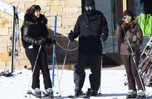 Kim Kardashian au ski : Sa fille et ses fiançailles à l'esprit pour aborder 2014
