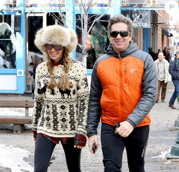 Elle Macpherson et son mari Jeffrey Soffer à Aspen, le 19 décembre 2013.