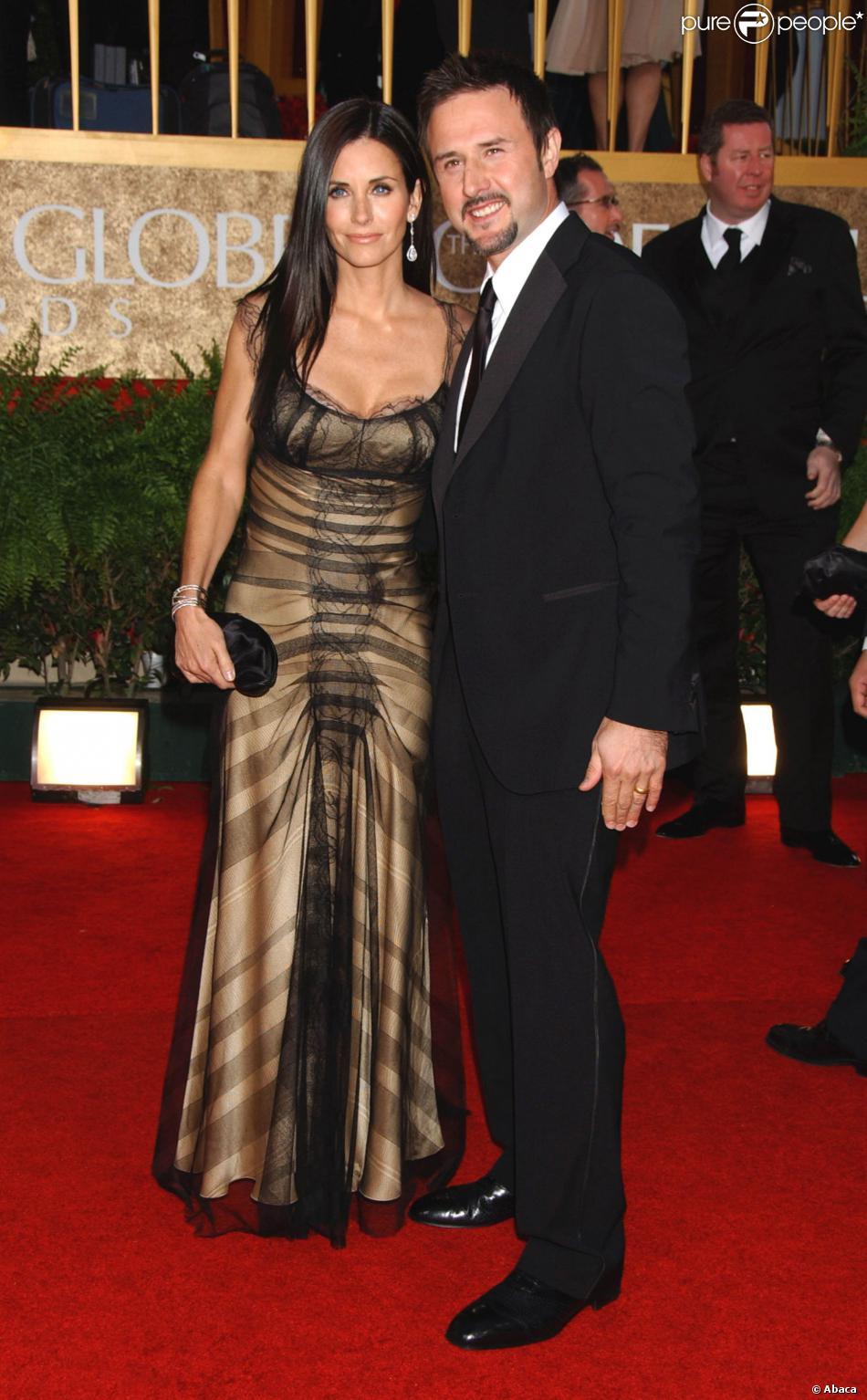 Courteney Cox et David Arquette aux Golden Globes à Los Angeles, le 15 janvier 2013.