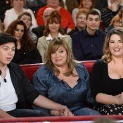 Michèle Bernier, ses enfants Charlotte et Enzo : Réunion de famille sur canapé !