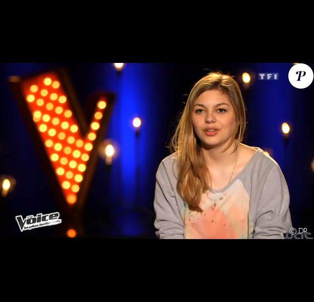 Louane, dans The Voice 2 sur TF1, le samedi 4 mai 2013.