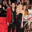 """Ashlee Simpson et Evan Ross - Première du film """"The Hunger Games : L'embrasement"""" à Los Angeles, le 18 novembre 2013."""