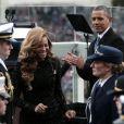 Barack Obama et Beyonce à Washington le 21 janvier 2013.