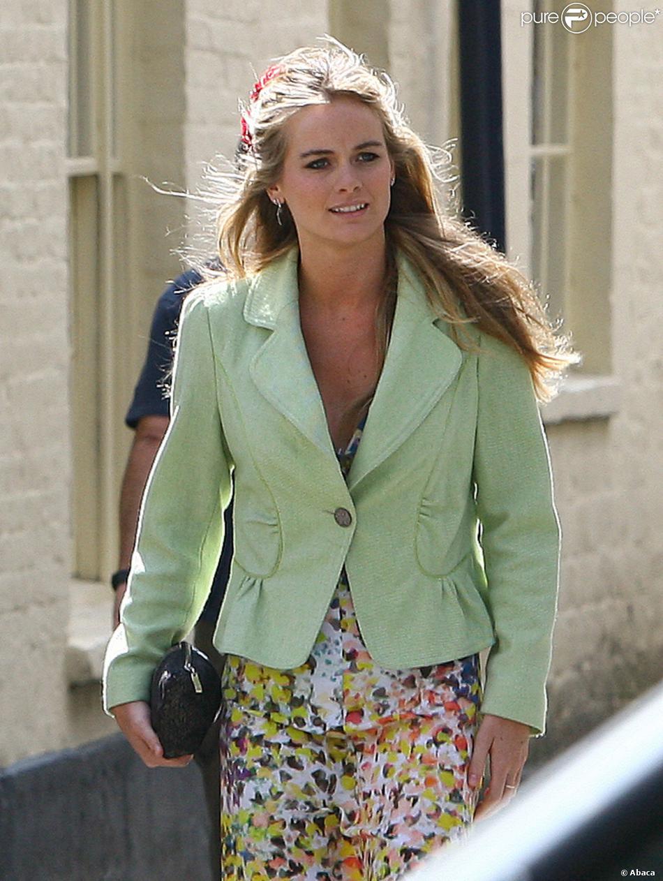 Cressida Bonas au mariage de Rupert Finch et Lady Natasha Rufus Isaacs à Gloucester, le 8 juin 2013.