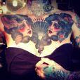 L'ex-Secrétiste Fanny Maurer a dévoilé des photos de ses récents tatouages sur son compte Facebook Lady Diamond.