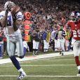 Terrell Owens inscrit un touchdown sous les couleurs des Cowboys de Dallas contre les Giants de New York le 11 novembre 2007
