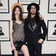 Charlotte Kemp Muhl et Sean Lennonarrivent au Staples Center pour la 56e édition des Grammy Awards. Los Angeles, le 26 janvier 2014.