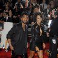 Le chanteur Miguel et Nazanin Mandi arrivent au Staples Center pour la 56e édition des Grammy Awards. Los Angeles, le 26 janvier 2014.