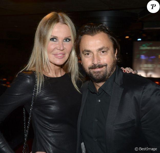 Henri Leconte et sa femme Florentine lors de la 19e édition des trophées de la nuit au Lido le 25 novembre 2013
