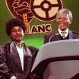 Nelson Mandela et Winnie à Wembley le 16 avril 1990.