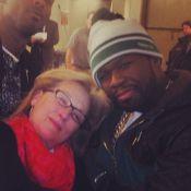 Meryl Streep, irrésistible en mode ''gangsta'' avec son grand copain 50 Cent
