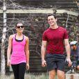 Lea Michele et son ami Jonathan Groff font du sport à Los Angeles, le 24 janvier 2014.