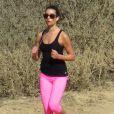Exclusif - Lea Michele fait du jogging au Runyon Canyon Park à Los Angeles, le 28 janvier 2014.