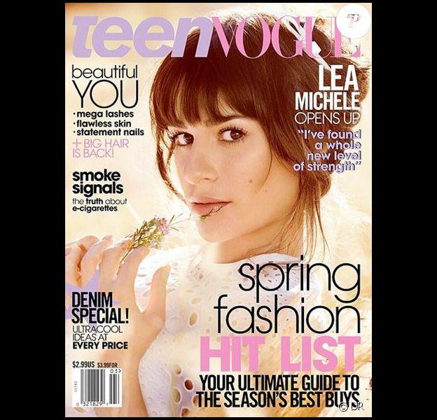 Lea Michele fait la couverture de Teen Vogue, édition de mars 2014.