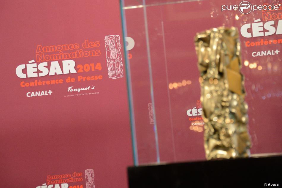 La conférence de presse pour l'annonce des nominations aux César le 31 janvier 2014 à Paris