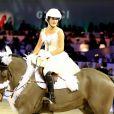 """""""Jessica Springsteen - Dans le cadre du Gucci Paris Masters a eu lieu l'epreuve """"Style & Competition for AMADE"""" à Villepinte le 7 décembre 2013."""""""