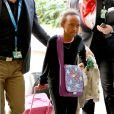 Zahara - Brad Pitt et Angelina Jolie arrivent avec leurs 6 enfants à Los Angeles, le 5 février 2014.