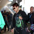 Maddox - Brad Pitt et Angelina Jolie arrivent avec leurs 6 enfants à Los Angeles, le 5 février 2014.