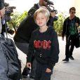 Knox et Maddox - Les Brangelina arrivent au LAX, Los Angeles, le 5 février 2014.