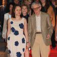 """Soon-Yi Previn et son mari Woody Allen lors de l'avant-première du film """"Blue Jasmine"""" à l'UGC Bercy à Paris, le 27 août 2013"""