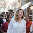 Valérie Trierweiler, l'ex-compagne de François Hollande lors de son voyage en Inde. Le 28 janvier 2014.