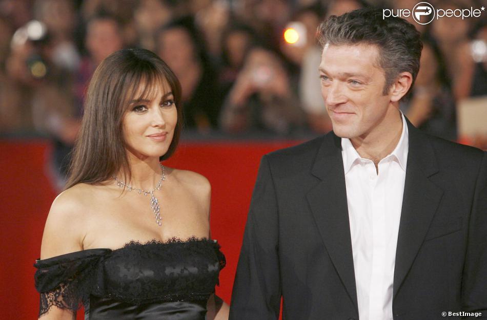 Monica Bellucco et Vincent Cassel à Rome le 23 octobre 2008.
