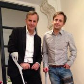 Bernard de la Villardière, victime d'un accident idiot, s'est cassé le pied