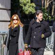 Amy Adams et Darren Le Gallo assistent aux funérailles de Philip Seymour Hoffman le 7 février 2014.