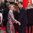 Diane Kruger et son compagnon Joshua Jackson lors de la première de The Galapagos Affair: Satan Came to Eden au 64e Festival International du Film de Berlin le 10 février 2014.