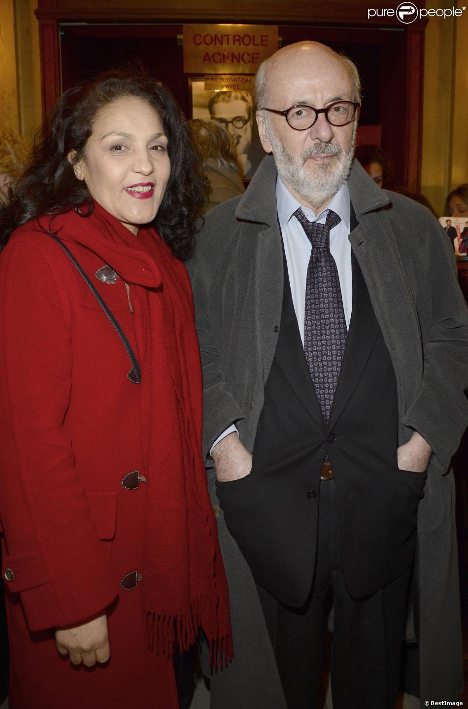 Bertrand blier et sa femme farida rahouadj la g n rale de la pi ce la porte c t au th tre - Piece de theatre la porte a cote ...