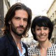 Julien Derouault, Marie-Claude Pietragalla - Soirée du nouvel an juif chez Marek Halter à Paris le 8 septembre 2013.