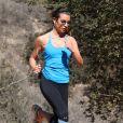 Lea Michele fait du footing au Runyon Canyon Park, à Los Angeles, le 13 février 2014.