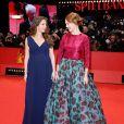 Yvonne Catterfeld (enceinte) et Léa Seydoux à la première du film La Belle et la Bête lors du 64e Festival International du Film de Berlin, le 14 février 2014.